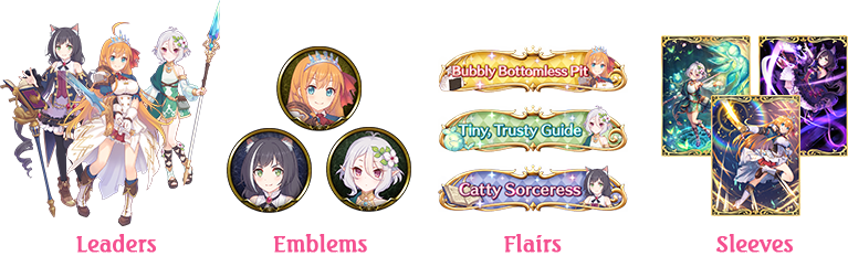 Leaders, Emblems, Flairs, Sleeves