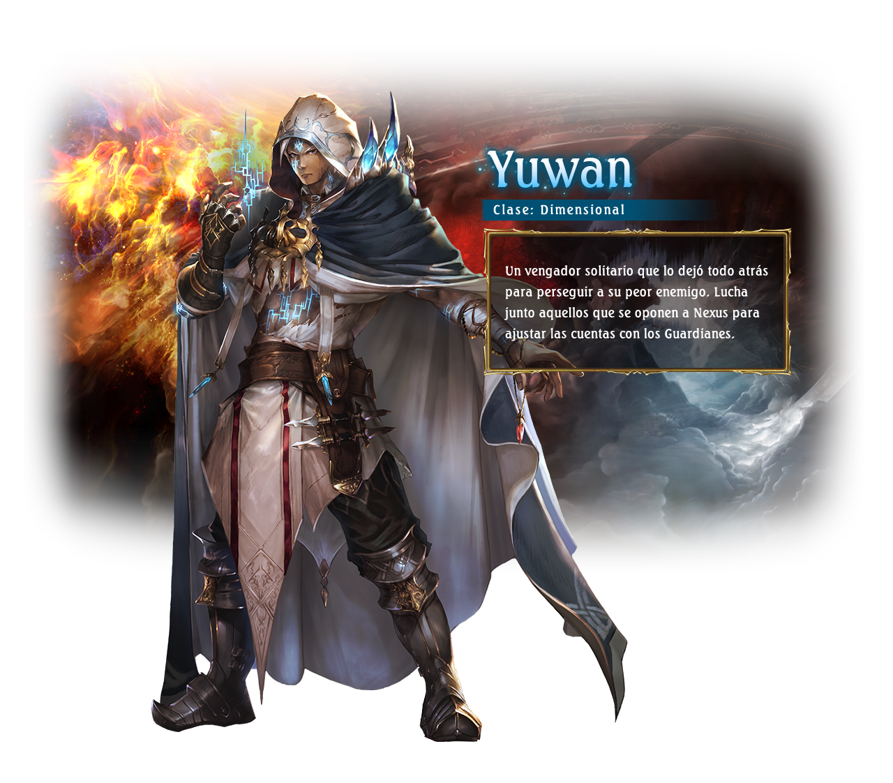 Eris / Class: Portalcraft / Yuwan is an aloof man who seeks vengeance against the being that destroyed his world. He joins those that have chosen to stand against Nexus to settle things between himself and the keepers.